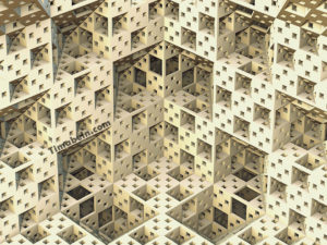 The Building fractal art design by tim abeln for sale as wall decoration