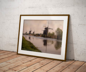 Mills at Kinderdijk 2 by Tim Abeln Photography and Digital Art Prints. Beautiful wall decoration for your home and office.